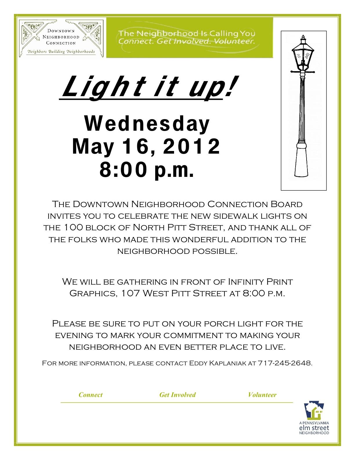 Postponed**Pitt Street Lighting Celebration**Postponed