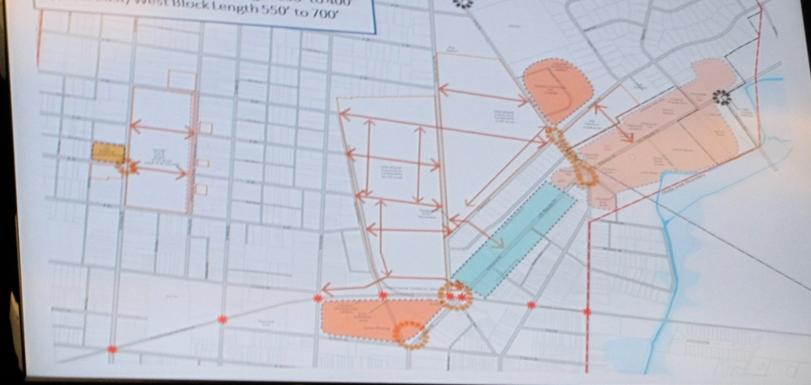 Plan includes adding back in full street structure connecting College St. with Spring Rd. through A,B,C & D streets