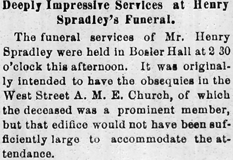"""Laid to Rest,"" Carlisle (PA) Herald, April 12, 1897 Image: http://www.flickr.com/photos/housedivided/5549825047/in/set-72157626172356464 Audio Reading: http://cumberlandcivilwar.com/carlisle-map/"