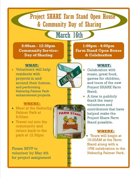 Farm Stand Open House  Community Day of Sharing flyer (3)