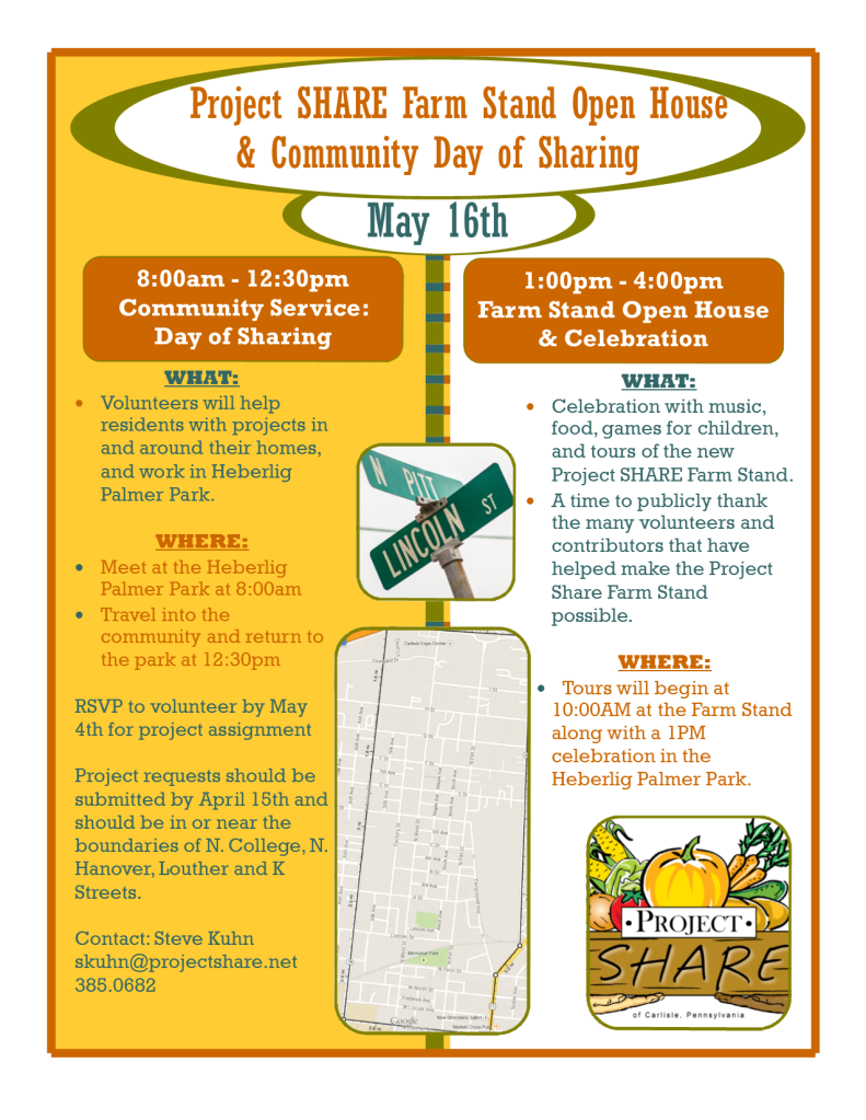 Farm Stand Open House  Community Day of Sharing flyer (update