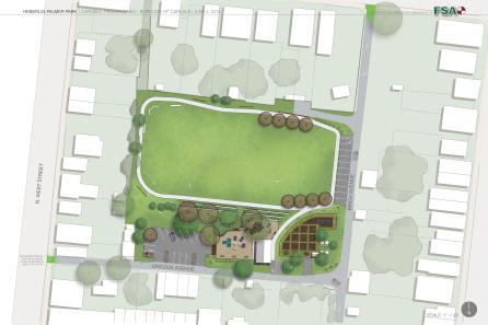 Park redesign with community garden