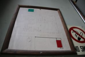 2nd floor-Floor Plan sign from Tire and Wheel